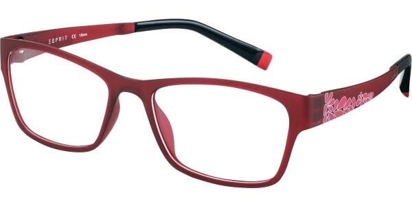 Dioptrické brýle Esprit model 17477, barva obruby červená mat, stranice červená růžová mat, kód barevné varianty 531.