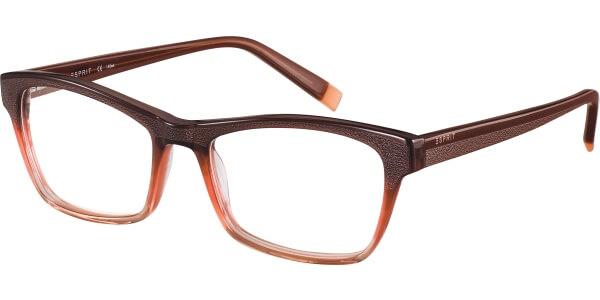Dioptrické brýle Esprit model 17483, barva obruby hnědá lesk, stranice hnědá lesk, kód barevné varianty 535.