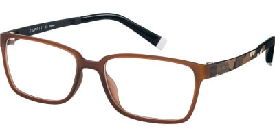 Dioptrické brýle Esprit model 17486, barva obruby hnědá mat, stranice hnědá mat, kód barevné varianty 535.
