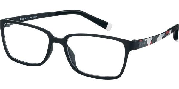 Dioptrické brýle Esprit model 17486, barva obruby černá mat, stranice černá bílá mat, kód barevné varianty 538.