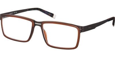 Dioptrické brýle Esprit model 17491, barva obruby hnědá lesk, stranice hnědá mat, kód barevné varianty 535.