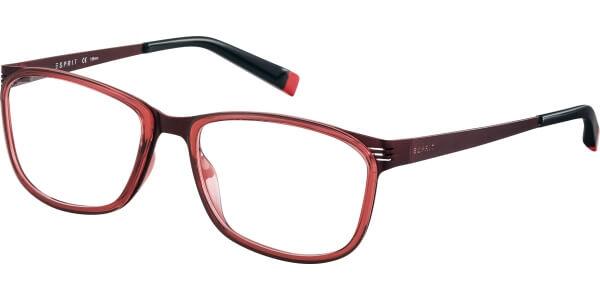 Dioptrické brýle Esprit model 17493, barva obruby vínová lesk, stranice vínová mat, kód barevné varianty 531.