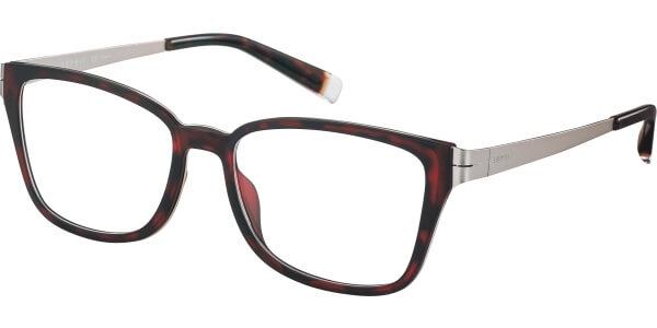 Dioptrické brýle Esprit model 17494, barva obruby hnědá lesk, stranice stříbrná mat, kód barevné varianty 545.