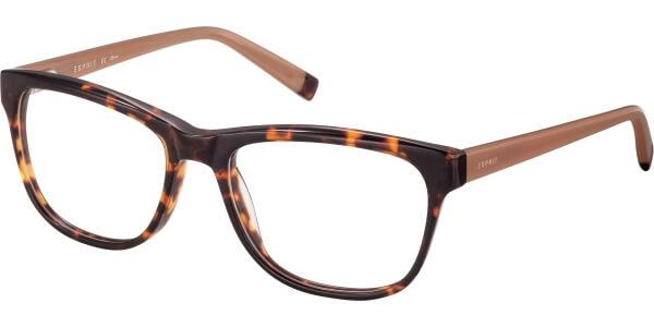 Dioptrické brýle Esprit model 17498, barva obruby hnědá lesk, stranice béžová lesk, kód barevné varianty 545.