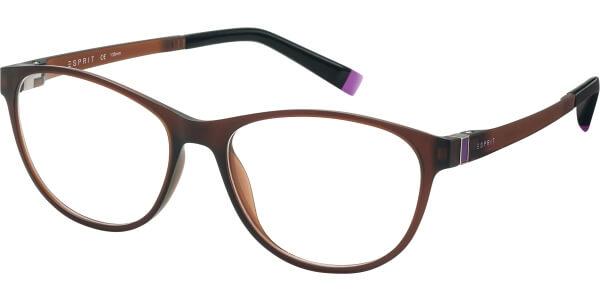 Dioptrické brýle Esprit model 17503, barva obruby hnědá mat, stranice hnědá fialová mat, kód barevné varianty 535.