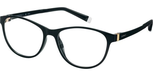 Dioptrické brýle Esprit model 17503, barva obruby černá lesk, stranice černá zlatá lesk, kód barevné varianty 538.