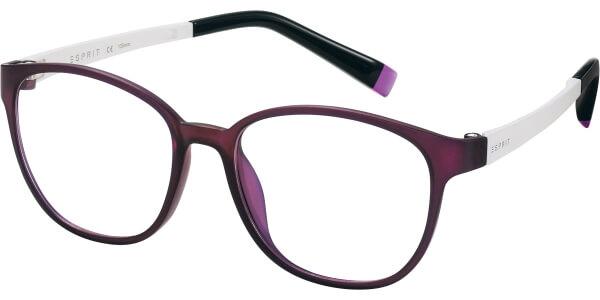 Dioptrické brýle Esprit model 17504, barva obruby fialová mat, stranice bíla mat, kód barevné varianty 577.