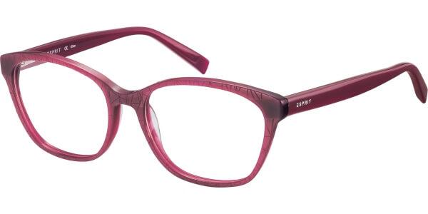 Dioptrické brýle Esprit model 17509, barva obruby vínová mat, stranice vínová lesk, kód barevné varianty 513.