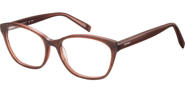 Dioptrické brýle Esprit model 17509, barva obruby hnědá mat, stranice hnědá lesk, kód barevné varianty 535.