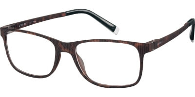 Dioptrické brýle Esprit model 17513, barva obruby hnědá mat, stranice hnědá mat, kód barevné varianty 545.