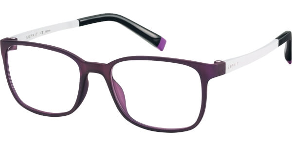 Dioptrické brýle Esprit model 17514, barva obruby fialová mat, stranice bílá mat, kód barevné varianty 577.