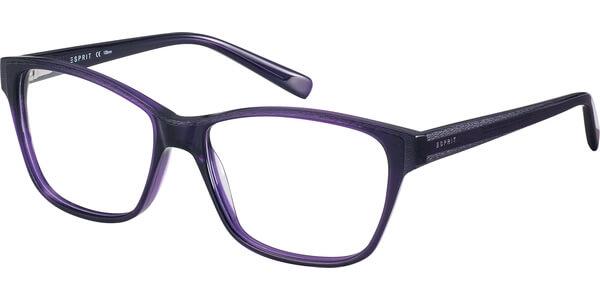 Dioptrické brýle Esprit model 17522, barva obruby fialová mat, stranice fialová mat, kód barevné varianty 533.