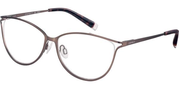Dioptrické brýle Esprit model 17528, barva obruby hnědá mat, stranice hnědá mat, kód barevné varianty 535.