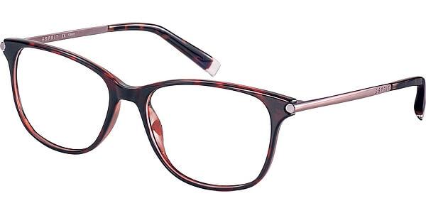 Dioptrické brýle Esprit model 17529, barva obruby hnědá červená lesk, stranice stříbrná lesk, kód barevné varianty 545.