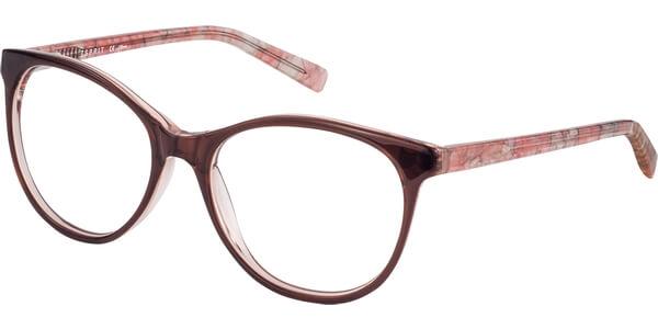 Dioptrické brýle Esprit model 17530, barva obruby hnědá lesk, stranice růžová lesk, kód barevné varianty 535.
