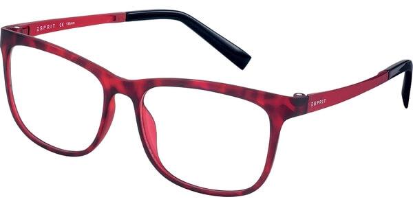 Dioptrické brýle Esprit model 17531, barva obruby červená mat, stranice červená mat, kód barevné varianty 531.