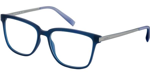 Dioptrické brýle Esprit model 17533, barva obruby modrá mat, stranice stříbrná lesk, kód barevné varianty 507.