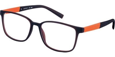 Dioptrické brýle Esprit model 17534, barva obruby hnědá mat, stranice oranžová mat, kód barevné varianty 535.