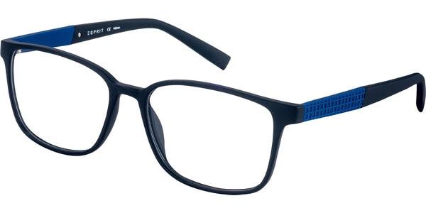 Dioptrické brýle Esprit model 17534, barva obruby černá mat, stranice modrá mat, kód barevné varianty 538.