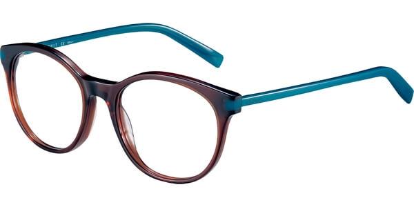 Dioptrické brýle Esprit model 17546, barva obruby hnědá lesk, stranice modrá lesk, kód barevné varianty 535.