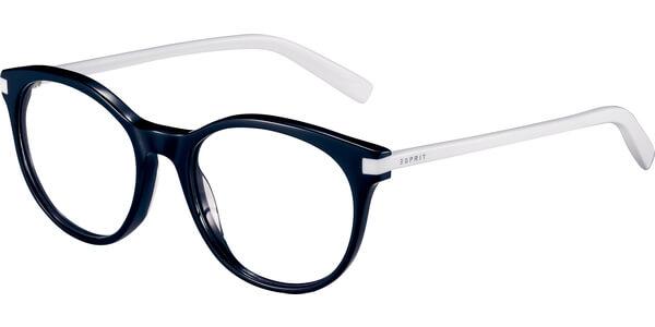 Dioptrické brýle Esprit model 17546, barva obruby černá lesk, stranice bílá lesk, kód barevné varianty 538.