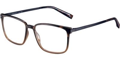 Dioptrické brýle Esprit model 17550, barva obruby hnědá lesk, stranice stříbrná mat, kód barevné varianty 545.