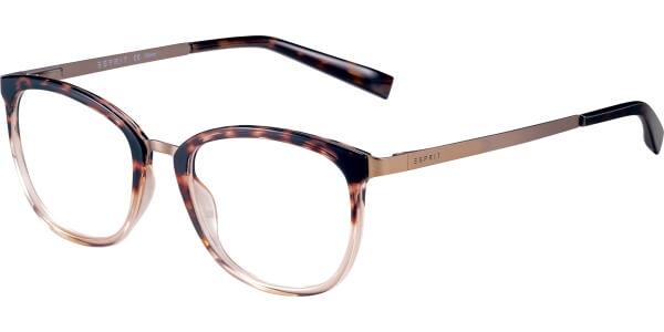 Dioptrické brýle Esprit model 17553, barva obruby hnědá lesk, stranice hnědá mat, kód barevné varianty 545.