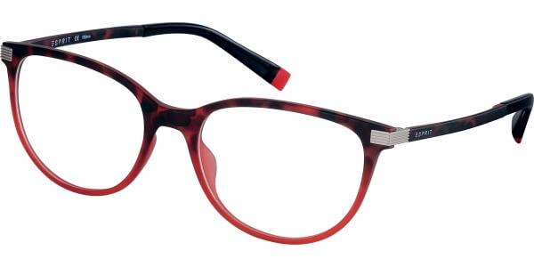 Dioptrické brýle Esprit model 17576, barva obruby červená mat, stranice červená mat, kód barevné varianty 531.