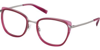 Dioptrické brýle Esprit model 17577, barva obruby růžová čirá lesk, stranice šedá lesk, kód barevné varianty 544.