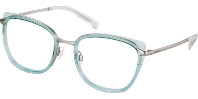 Dioptrické brýle Esprit model 17577, barva obruby zelená čirá lesk, stranice šedá lesk, kód barevné varianty 547.