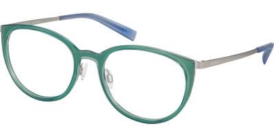 Dioptrické brýle Esprit model 17589, barva obruby zelená čirá lesk, stranice šedá modrá mat, kód barevné varianty 547.