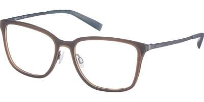 Dioptrické brýle Esprit model 17593, barva obruby hnědá mat, stranice šedá mat, kód barevné varianty 535.