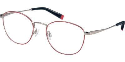 Dioptrické brýle Esprit model 17596, barva obruby červená stříbrná lesk, stranice stříbrná lesk, kód barevné varianty 531.