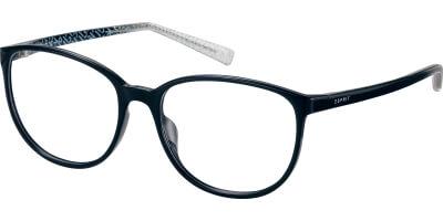 Dioptrické brýle Esprit model 33409, barva obruby černá lesk, stranice černá lesk, kód barevné varianty 538.