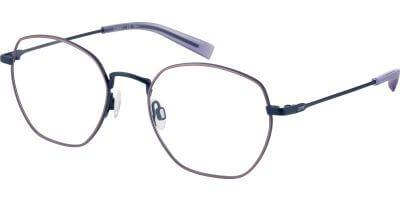 Dioptrické brýle Esprit model 33438, barva obruby růžová modrá mat, stranice modrá mat, kód barevné varianty 534.
