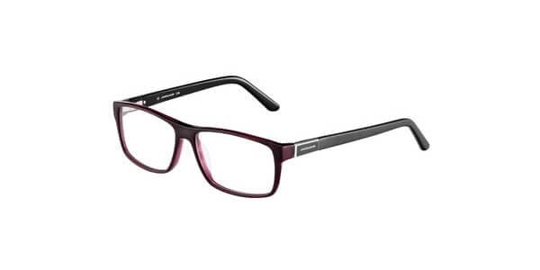 Dioptrické brýle Jaguar model 31019, barva obruby vínová mat, stranice černá mat, kód barevné varianty 6396.
