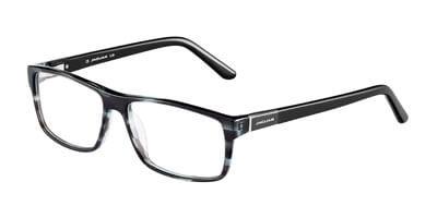Dioptrické brýle Jaguar model 31019, barva obruby černá čirá lesk, stranice černá lesk, kód barevné varianty 6542.