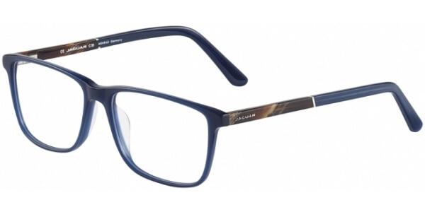 Dioptrické brýle Jaguar model 31024, barva obruby modrá mat, stranice hnědá mat, kód barevné varianty 6982.