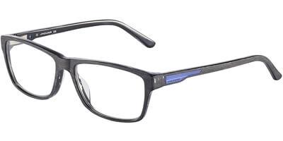 Dioptrické brýle Jaguar model 31504, barva obruby černá mat, stranice černá modrá mat, kód barevné varianty 6472.