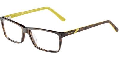 Dioptrické brýle Jaguar model 31506, barva obruby hnědá mat, stranice hnědá žlutá mat, kód barevné varianty 6728.