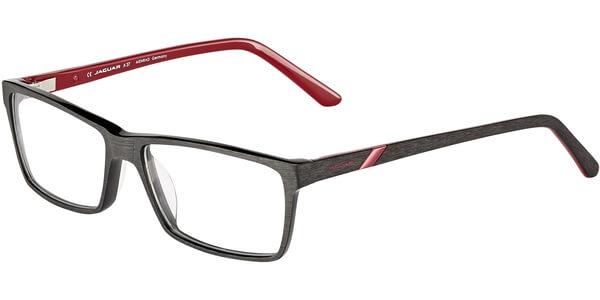 Dioptrické brýle Jaguar model 31506, barva obruby černá mat, stranice černá červená mat, kód barevné varianty 6852.