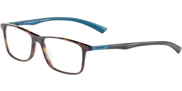 Dioptrické brýle Jaguar model 31507, barva obruby hnědá mat, stranice šedá tyrkysová mat, kód barevné varianty 8940.