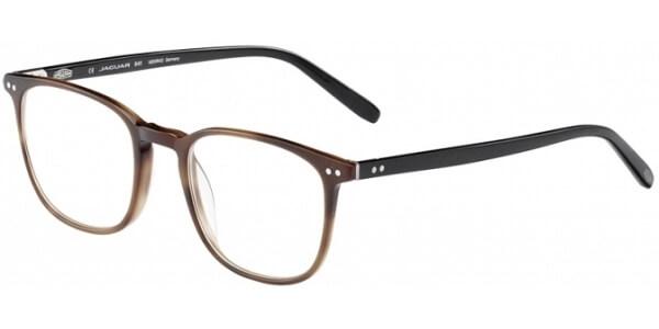 Dioptrické brýle Jaguar model 31707, barva obruby hnědá mat, stranice černá lesk, kód barevné varianty 4386.