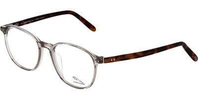 Dioptrické brýle Jaguar model 31708, barva obruby žlutá čirá lesk, stranice hnědá textil, kód barevné varianty 6381.