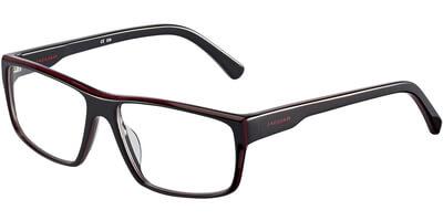 Dioptrické brýle Jaguar model 31804, barva obruby černá červená lesk, stranice černá červená lesk, kód barevné varianty 2100.