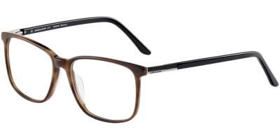 Dioptrické brýle Jaguar model 32006, barva obruby hnědá mat, stranice černá lesk, kód barevné varianty 4386.