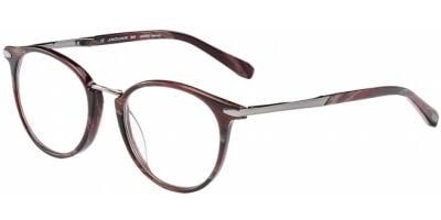 Dioptrické brýle Jaguar model 32701, barva obruby hnědá mat, stranice hnědá stříbrná mat, kód barevné varianty 6824.