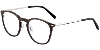 Dioptrické brýle Jaguar model 32702, barva obruby hnědá mat, stranice stříbrná lesk, kód barevné varianty 2100.