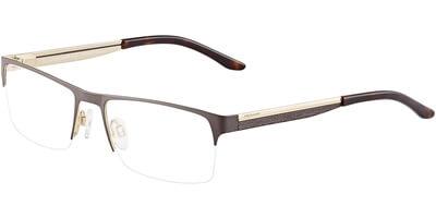 Dioptrické brýle Jaguar model 33077, barva obruby hnědá mat, stranice hnědá zlatá mat, kód barevné varianty 909.