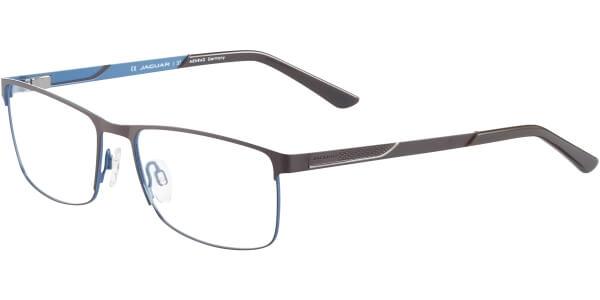 Dioptrické brýle Jaguar model 33079, barva obruby hnědá modrá mat, stranice hnědá modrá mat, kód barevné varianty 1039.